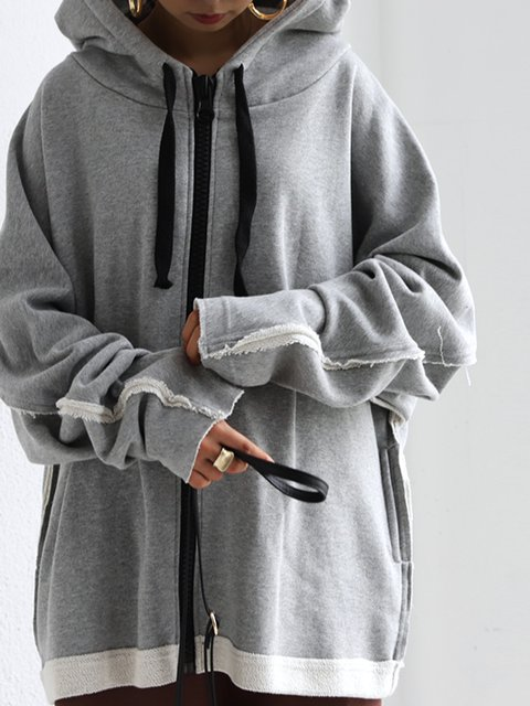 Hoodie Knitted Long Sleeve Plain Sweatshirt