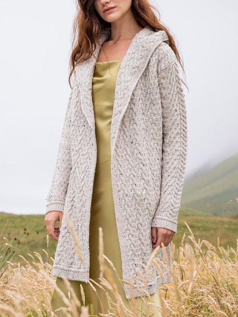 Apricot Long Sleeve Shift Outerwear
