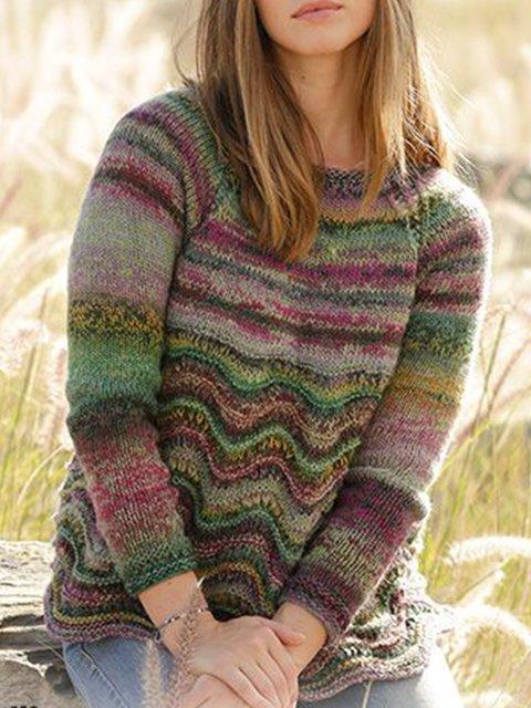 Multicolor Vintage Cotton-Blend Sweater