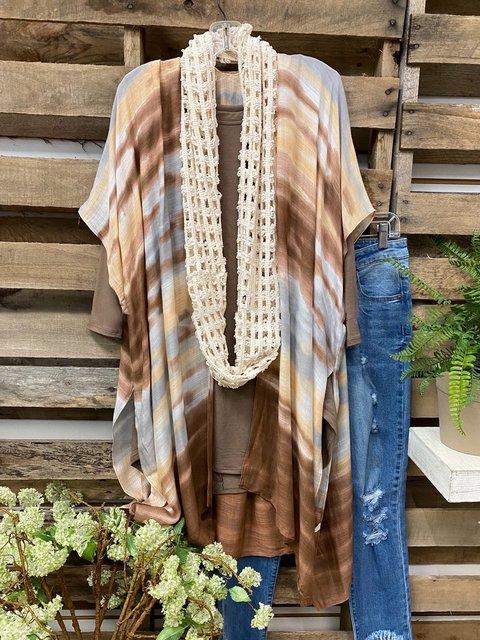 Multicolor Casual Cotton-Blend Outerwear