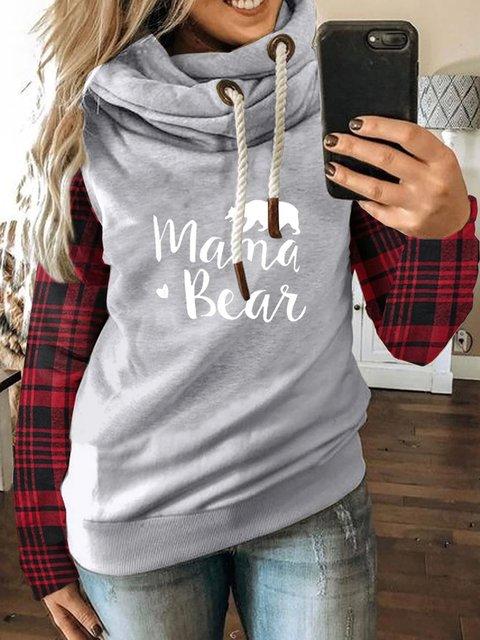 Light Gray Hoodie Long Sleeve Casual Cotton-Blend Sweatshirt