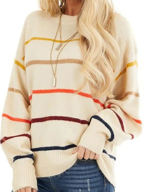 Stripes Knitted Shirts & Tops