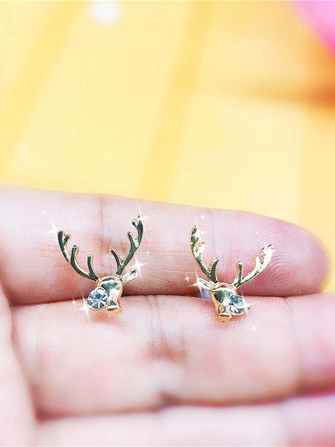 Christmas Stag Horn Earrings