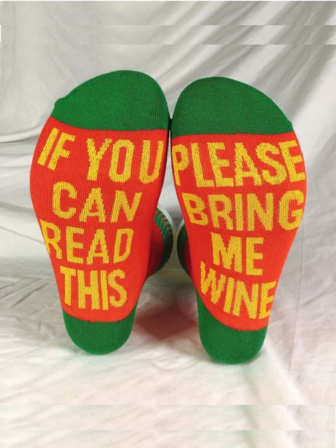 IF YOU CAN READ THIS English Letter Socks