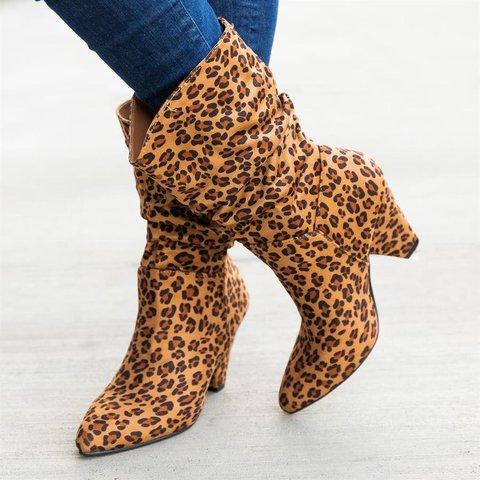 Daily Pu Animal Print Boots