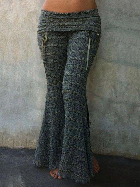 Women's Vintage Printed Casual Flare Pants