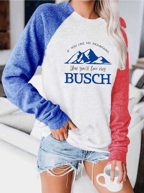 Printed Round Neck And Long Sleeve Matching Colour Hoodie