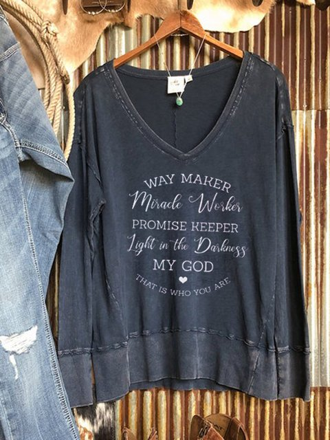 Gray Casual Letter Shirts & Tops