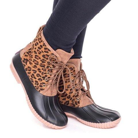 Split Joint Pu Winter Boots