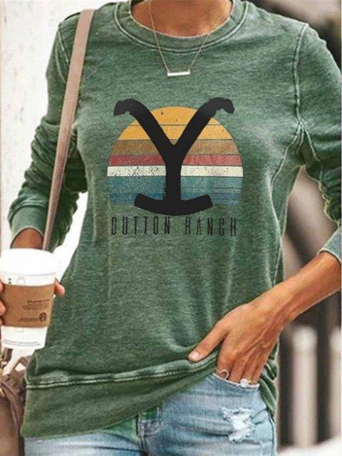 Casual Cotton-Blend Sweatshirt