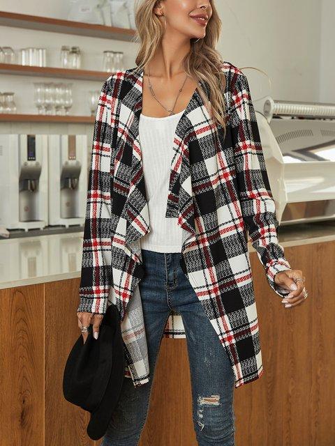 Black Long Sleeve Paneled Cotton-Blend Outerwear