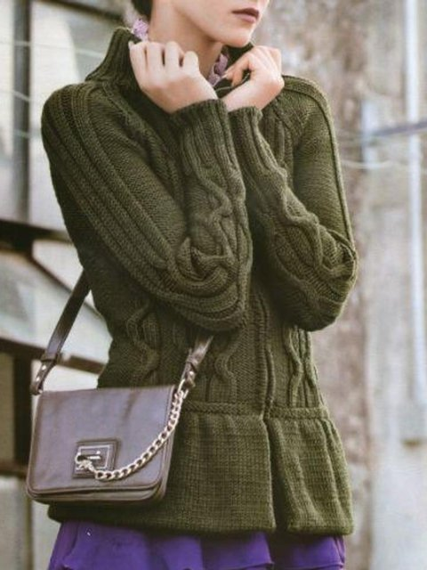 Green Vintage Cotton Sweater
