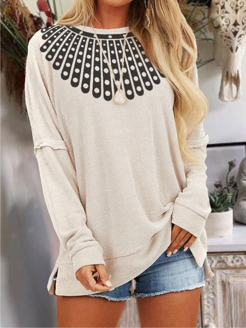 Beige Cotton Casual Shirts & Tops