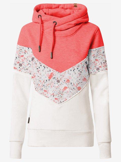 Orange Cotton-Blend Long Sleeve Sweatshirt