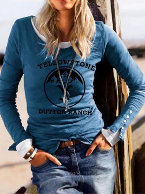 Women's Crew-Neck Printed T-Shirt