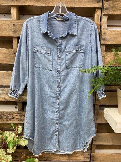 Blue Denim Shirts & Tops