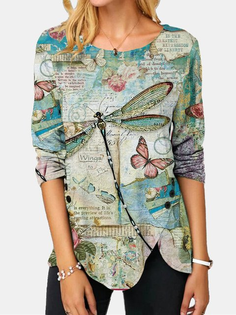 Multicolor Buttoned Casual Long Sleeve Shirts & Tops
