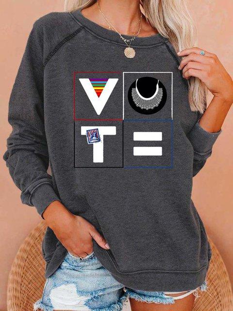 Vote Women's Long Sleeve Sweatshirt