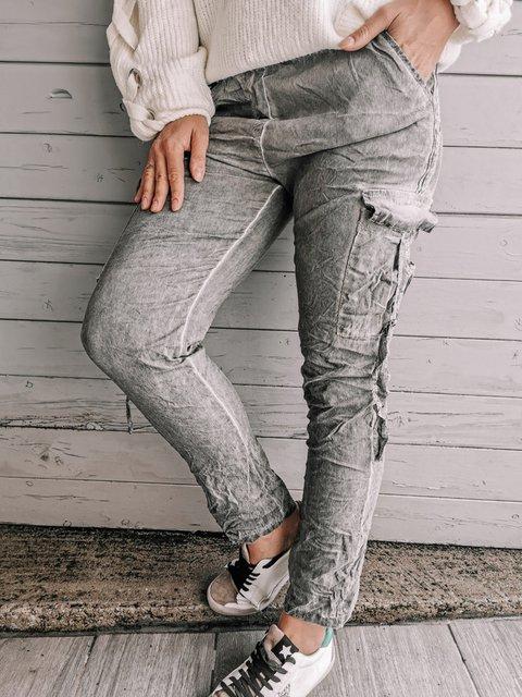 Gray Casual Shift Pants