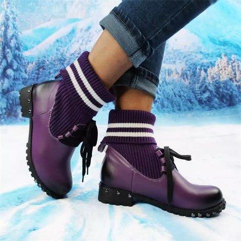 Fall Pu Rivet Boots