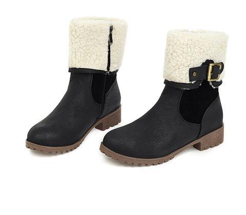 Split Joint Pu Boots