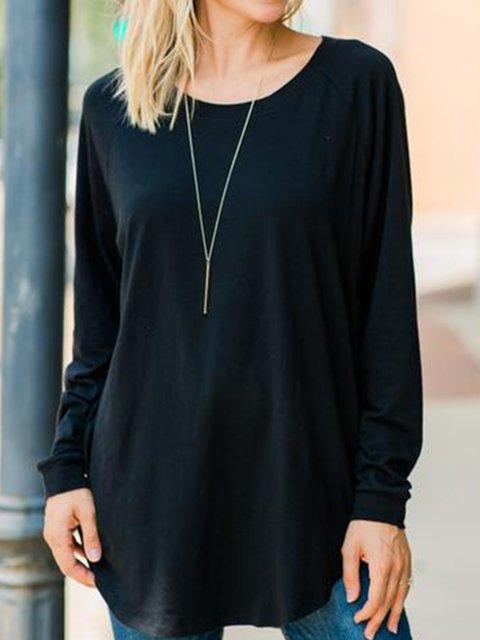 Black Plain Casual Shirts & Tops