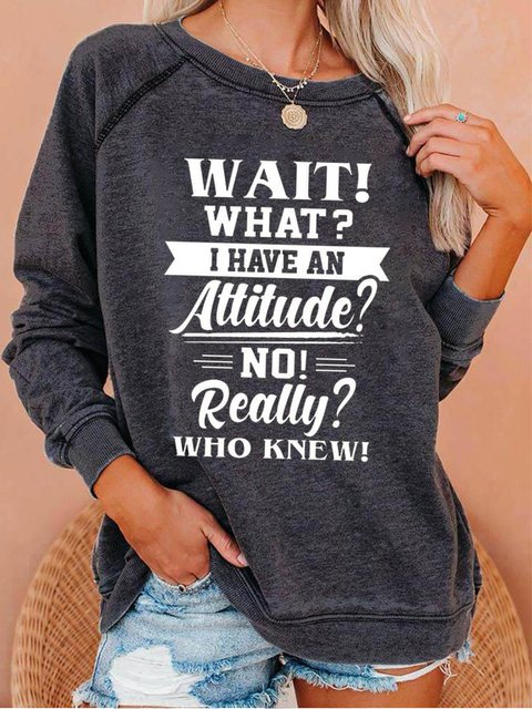 Black Long Sleeve Cotton-Blend Casual Sweatshirt