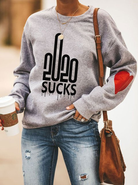 2020 Middle Finger Sucks Heart Sweatshirt