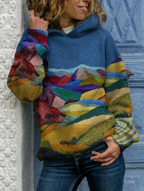 Art Painting Hoodie Long Sleeve Sweatshirt