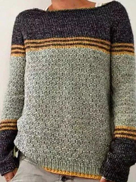 Casual Crew Neck Sweater