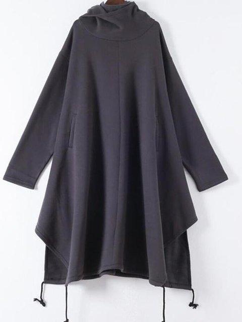 Solid Long Sleeve Hoodie Sweatshirt
