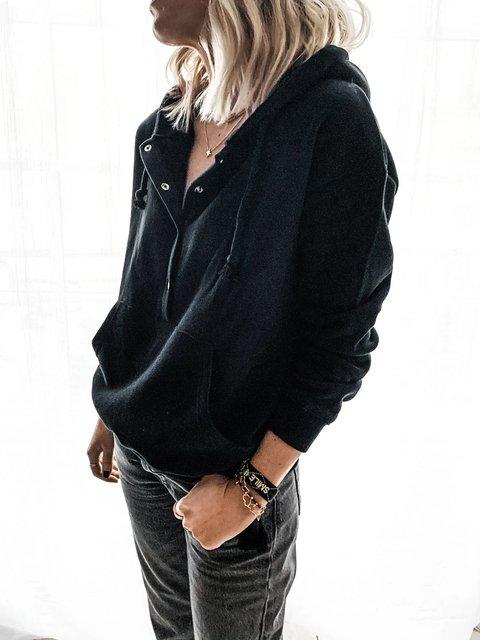 Long Sleeve Shift Hoodie Sweatshirt