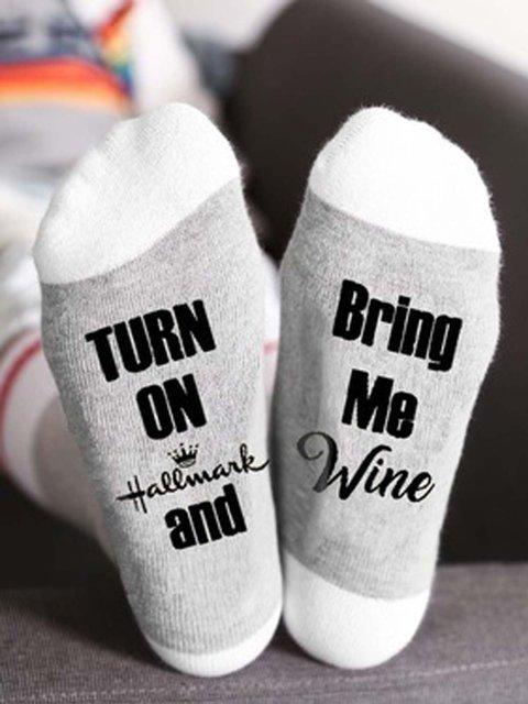 High Elastic Cotton  Printed Socks