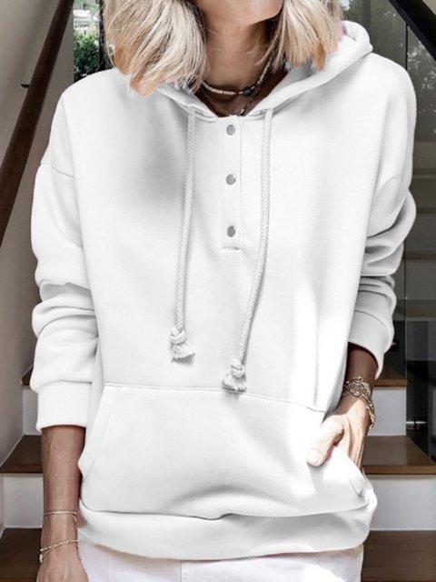 Long Sleeve Casual Hoodie Shirts & Tops