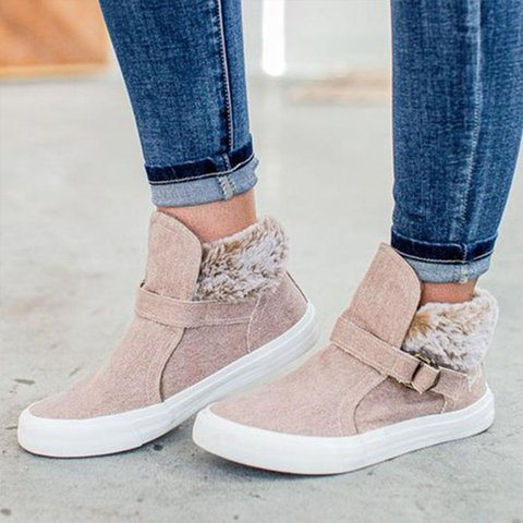 Winter Artificial Leather Sneakers