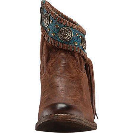 Brown Rivet Artificial Leather Block Heel Boots