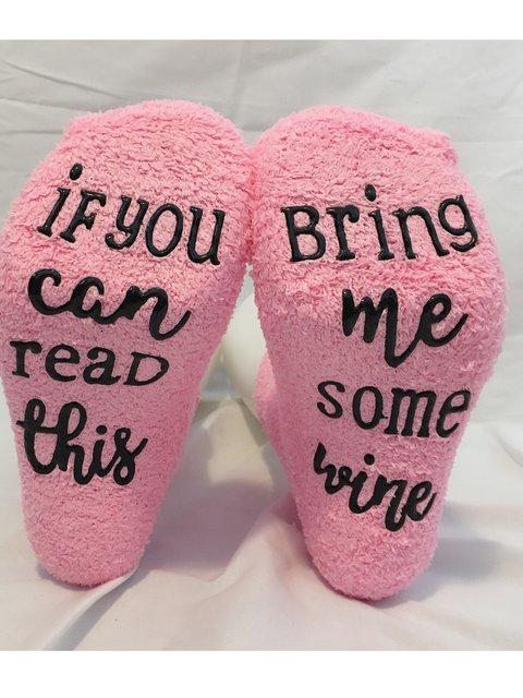 Funny Letter Socks