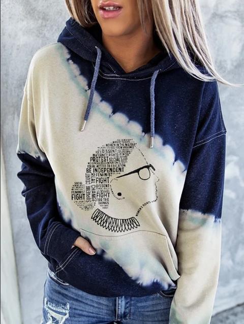 Casual Long Sleeve Print Hoodie Sweatshirt