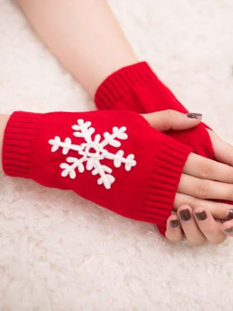 Snowflake Pattern Mittens