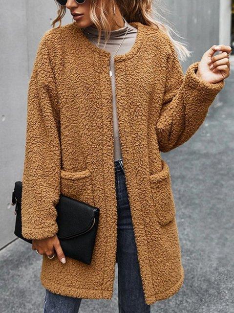 Winter Coral Velvet Long Sleeve Fleece Teddy Coats Outerwear