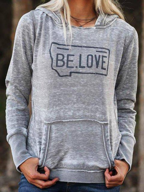 Gray Hoodie Shift Casual Sweatshirt