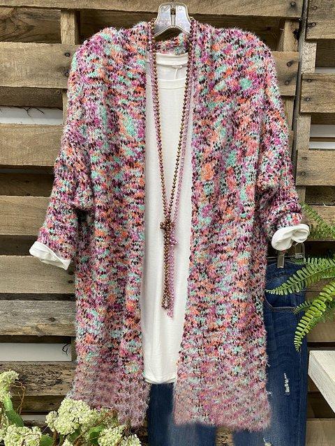 Multicolor Acrylic Casual Sweater