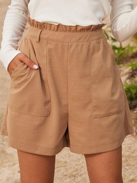 Apricot Cotton-Blend Paneled Holiday Pants