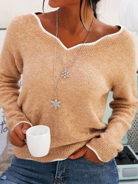 Apricot Shift Long Sleeve Sweater