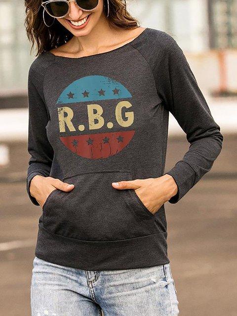 Notorious RBG Printed Casual Long Sleeve T-Shirt