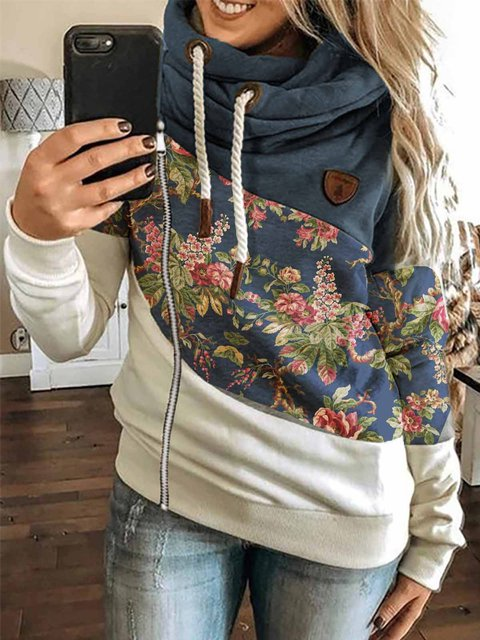 Printed Floral Casual Outerwear