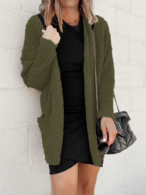 Autumn winter New Double Pocket Knit Cardigan
