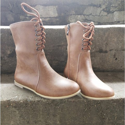 Boots round head short boots
