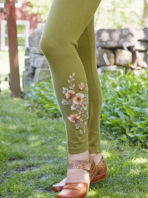 Vintage Cotton-Blend Sheath Pants