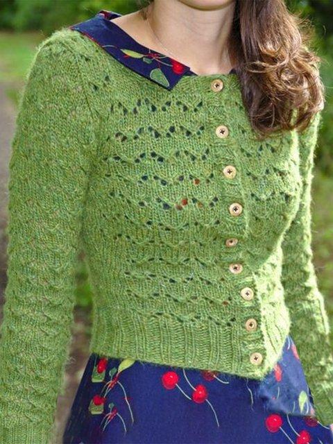 Casual Acrylic Crew Neck Sweater
